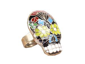 Skull Ring Grimace Mask Finger Ring Peking OPera Mask Finger Ring