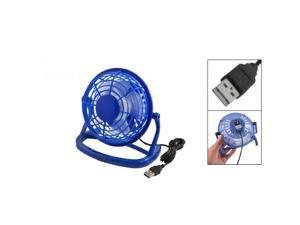 5 Dia Blue Hard Plastic 4-blade USB Cooler Cooling Desk Mini Fan