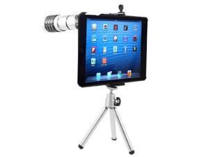 12X Zoom Telephoto Lens Camera Telescope + Telescopic Tripod + Case for iPad Mini