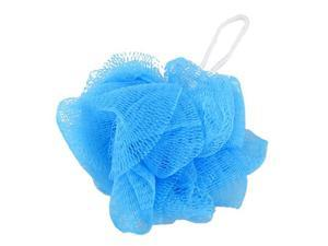 Mesh Soft Bath Sponge Body Pouf Shower Loop Scrubber Blue 2 Pcs