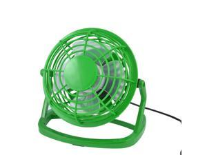 360 Degree Rotation LapTop PC Cool Cooler Green Plastic Desk Mini USB Fan 4""