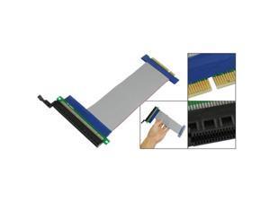 PCI-E 8X to 16X Slot Riser Card Flex Flexible Extension Cable