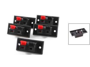 5 Pcs 2 Positions Push in Jack Spring Load Audio Speaker Terminals