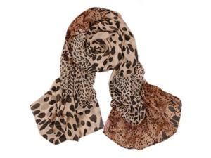 Women Soft Wrap Shawl Animal Print: leopard Scarves Stole