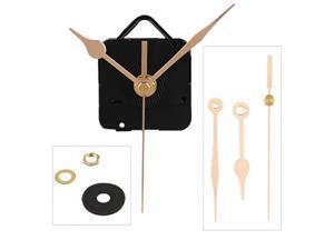 Quartz Clock Movement Mechanism Gold Hands DIY Repair Parts Kit