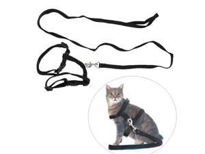 Adjustable Pet Cat Kitten Nylon Lead Leash Harness Set