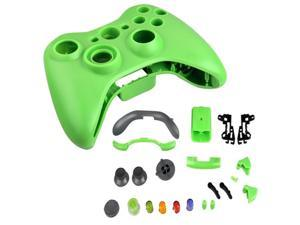 Set Green Controller Case Shell Cover + Buttons for Game XBox 360