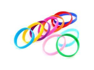 10 Silicone Rubber Bracelet Cuff Wristband Wrist Band 12mm