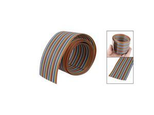 "1M Long 2"" Width 40 Pin Colorful Flexible Flat Ribbon Cable"