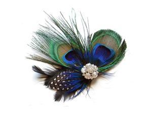 Cute Peacock Feather Hair Clip