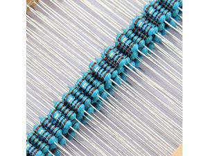 2500Pcs 50 Values 1/4W 0.25W 5% Carbon Film Resistor Assortment Kit(1R~10MR) Ohm