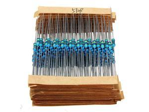 (110M)ohm 640 Pcs 64 Value 1/4W 0.25W 1% Metal Film Resistors Assortment Kit