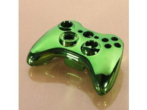 Green Chrome Custom Wireless Controller Replacement Shell Case Kit for Xbox 360