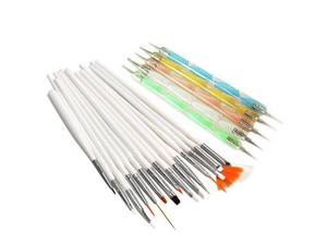 20pcs Nail Art Design Set Dotting Painting Polish Brush Pen Tools