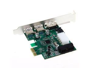 Desktop 3 Port USB 3.0 20 Pin Power ESATA PCI Express Adapter Controller Card