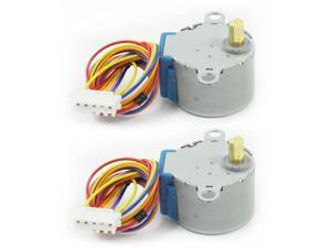 2pcs 28BYJ-48-5V 5 Line 4 Phase Stepper Step Motor for Microcontroller