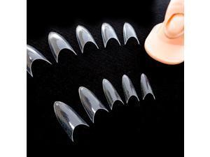 500pcs Sharp Ending Stiletto glitter Color False Nail Tips Acrylic Nail