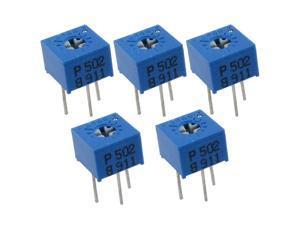 5 x 5K ohm Trimpot Trimmer Pot Variable Resistor Potentiometer
