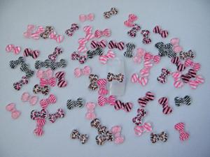 Nail Art 3d 70 Mix Print Bow for Nails, Cellphones
