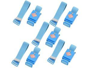 5 Pcs Blue Anti Static Discharge Cordless Wrist Strap Band