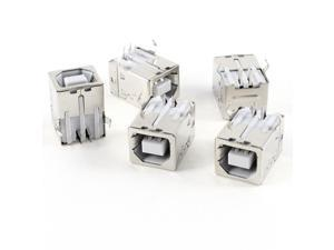 5 Pcs USB Female Type-B Jack 4-Pin 90 Degree PCB DIP Socket Connector