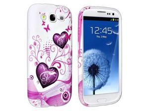 TPU Rubber Case For Samsung Galaxy S III / S3 i9300, Pink Heart