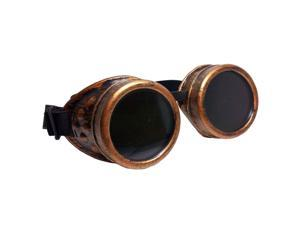 Cyber Goggles Steampunk Welding Goth Cosplay Vintage Goggles Rustic-Red Bronze & Black