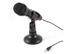 Omnidirectional Laptop PC Computer 3.5mm Network Stand Mini Microphone Mike Black