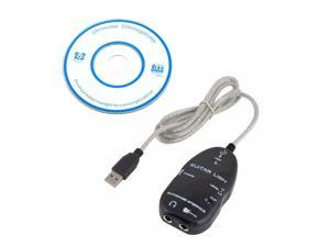 Guitar to USB Interface Link Audio Cable PC/MAC Recording Adapter