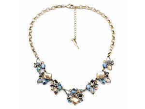 Vintage Simple Fashion Women Jewelry Antique Geometric Flower Shell Shaped Pendant Necklace