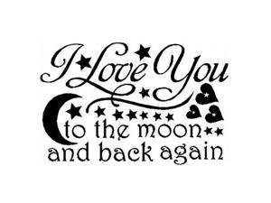 LOVE Quotes Wall Decor Wall Art I LOVE YOU To The Moon And Back Wall Sayings Quotes Easy Apply Wall Sticker Wall Art for Children Bedroom Baby Nursery Home Decor-black