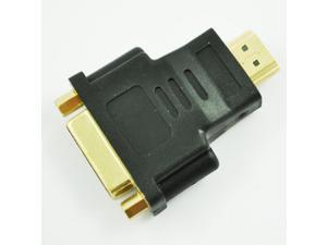 Black Dual LInk DVI-I Female to HDMI Male Plug Converter Adapter