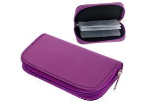 22 Slots SD SDHC MMC CF Micro SD Memory Card Case Zippered Bag