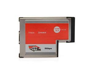 2 Port USB 3.0 ExpressCard Card ASM Chip 54 mm PCMCIA ExpressCard for Notebook
