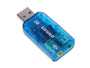 New USB 2.0 Interface 5.1 Stereo Audio Sound Card Adaptor for PC