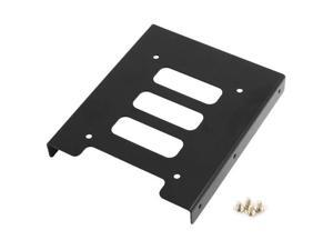 "New Black Metal 2.5"" to 3.5"" Mounting Adapter Bracket Hard Drive Holder"
