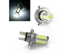 2 x H4 Fog Light Bulb Lamp LED 5 COB Light 7.5W White Car