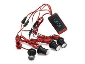 4pc Strobe Strobe Strobe Flashing 4 LED White Light for Car Motorcycle
