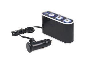 3 Way Car Cigarette Lighter Splitter DC 12V 24V LED Light Switch