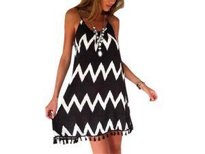 Sexy summer Dress Patchwork and Sleeveless cotton chiffon lace women dress Hot Sale-S