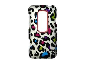 Colorful Leopard Protective Hard Case Cover Design for HTC EVO 3D  4G