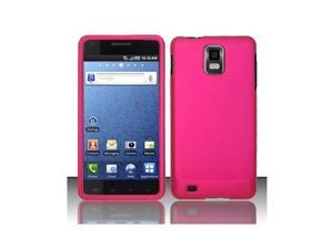 Pink Rubber Touch Phone Protector Cover Case for Samsung Infuse / I997 4G
