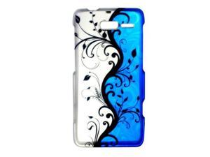 For Motorola Droid RAZR M 4 g LTE XT907 side white, and blue silver vine pattern can be divided into thin crust