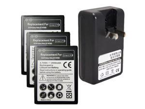 3X 2600mAh Battery + Dock Wall Charger For Samsung Galaxy Note i9220 GT-N7000