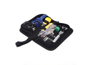 Portable 144 pcs Watch Repair Tool Kit Watchband Link Remover & Zip Case Watchmaker