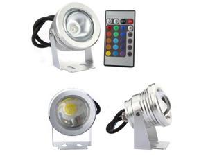 10W RGB LED Waterproof Flood Light 16 Color Changing Spot Light 12V
