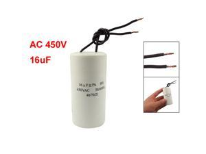 CBB60 AC 450V 16uF Wired Motor Run Start SH Capacitor 50/60Hz