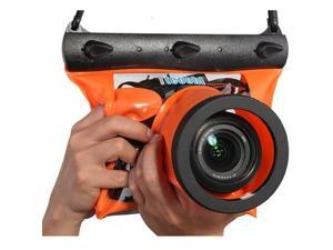 Tteoobl Orange Waterproof Bag Pouch Case Cover for SLR DSLR Camera Canon 600D 40D 60D 7D 5D , Nikon D80 D90 D700 D5100 7000 (Camera is not included)