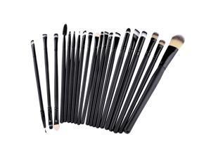 20pcs Makeup Brushes Set Soft Powder Foundation Eyeshadow Eyeliner Lip Brush(Black)