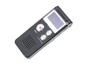 Rechargeable 4GB Digital Voice Recorder 650Hr Dictaphone MP3 Player Black